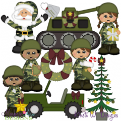 Army Christmas SVG Cutting Files Includes Clipart
