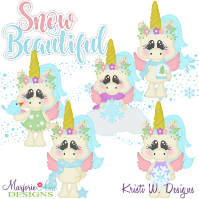 Snow Beautiful Exclusive SVG Cutting Files + Clipart