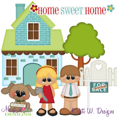 Home Sweet Home SVG Cutting Files Includes Clipart