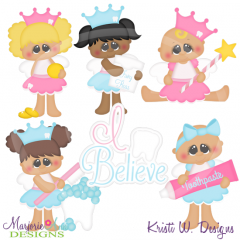 I Believe-Tooth Fairy Cutting Files-Includes Clipart