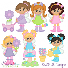 Garden Fairies SVG Cutting Files Includes Clipart