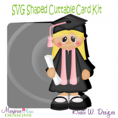 Grad Girl~Shaped SVG/MTC Card Kit/Cutting File