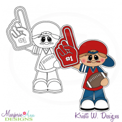 We're Number 1-Boy Digital Stamp + Clipart