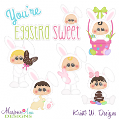 You're Eggstra Sweet-KidsExclusive Cutting Files + Clipart
