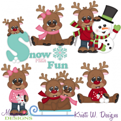 Reindeer Fun Two SVG Cutting Files + Clipart