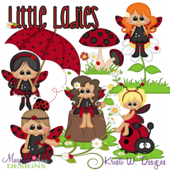 Ladybug Fairies SVG Cutting Files + Clipart