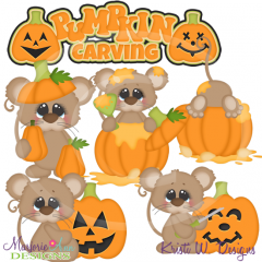 Pumpkin Carving Fun SVG Cutting Files Includes Clipart
