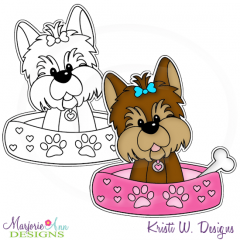 My Best Friend Yorkie~Girl Digital Stamp + Clipart