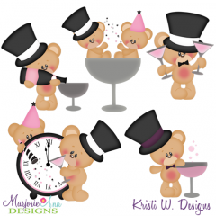 Cheers To The New Year SVG Cutting Files Includes Clipart