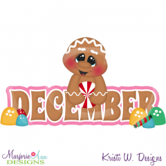 December Title SVG Cutting Files Includes Clipart
