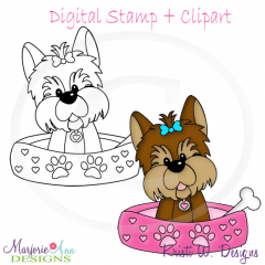 My Best Friend-Yorkie SVG Cutting Files Includes Clipart