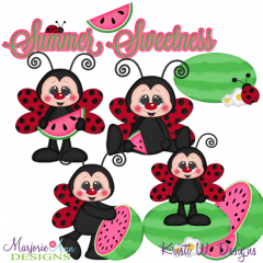 Summer Sweetness SVG Cutting Files + Clipart