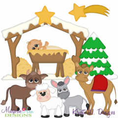 Winter Village~Nativity 2 SVG Cutting Files + Clipart