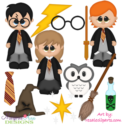 Wizard School Exclusive SVG Cutting Files + Clipart
