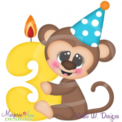Party Animal 3rd Birthday Cutting Files-Includes Clipart