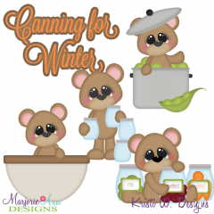 Canning For Winter SVG Cutting Files Includes Clipart