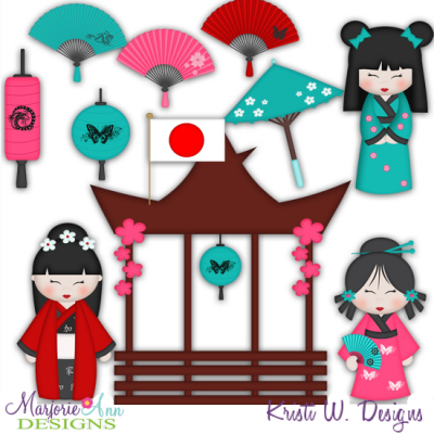 Kids Around The World-Japan SVG Cutting Files Includes Clipart