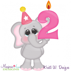Party Animal 2nd Birthday Cutting Files-Includes Clipart