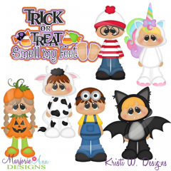 Trick Or Treat Smell My Feet SVG Cutting Files Includes Clipart