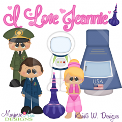 I Love Jeannie SVG Cutting Files Includes Clipart