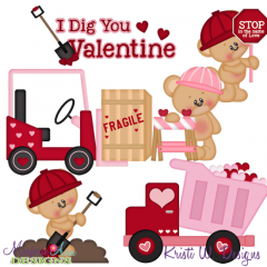 Love At Work SVG Cutting Files + Clipart