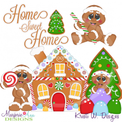 Christmas Village-Home Sweet Home SVG Cutting Files + Clipart