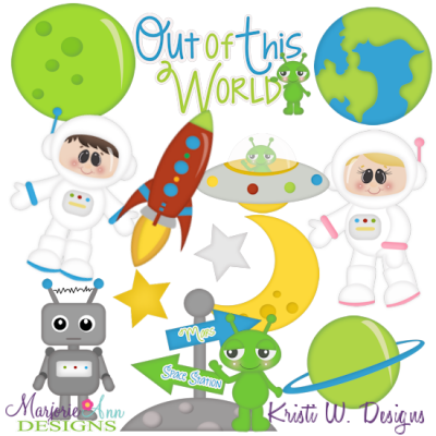 When I Grow Up~Astronaut Cutting Files-Includes Clipart