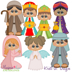 Winter Village~Nativity 1 SVG Cutting Files + Clipart
