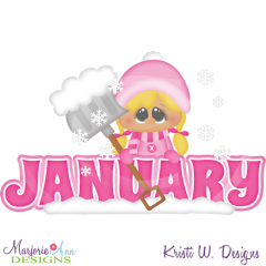 January Title SVG Cutting Files Includes Clipart