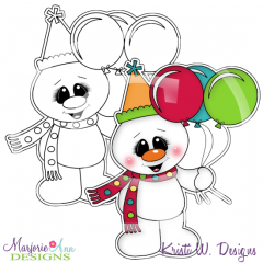 Frosty's Birthday 1 Digital Stamp + Clipart
