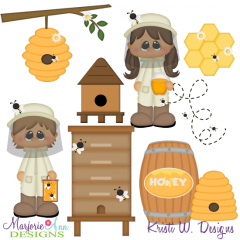 When I Grow Up~Bee Keeper SVG Cutting Files Includes Clipart
