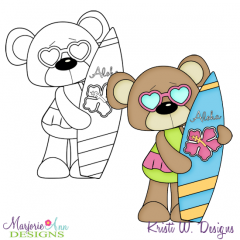 Beach Bear 2 Exclusive Digital Stamp + Clipart