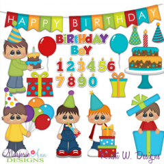 Birthday Boy SVG Cutting Files + Clipart