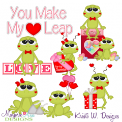 Love Frogs SVG Cutting Files Includes Clipart