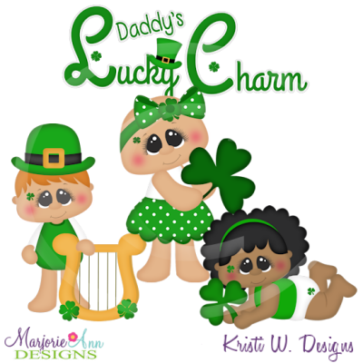 Daddy's Lucky Charm Cutting Files-Includes Clipart