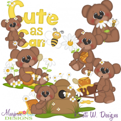 Cute As Can Bee SVG Cutting Files Includes Clipart