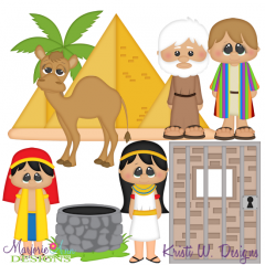 Joseph Coat Of Many Colors Cutting Files + Clipart