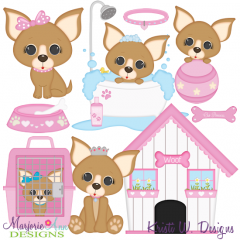 I Love My Chihuahua-Girl SVG Cutting Files Includes Clipart