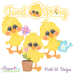 Tweet Spring Cutting Files-Includes Clipart