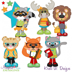 School Animals SVG Cutting Files + Clipart