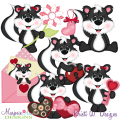 Stinkin Cute Valentine SVG Cutting Files + Clipart