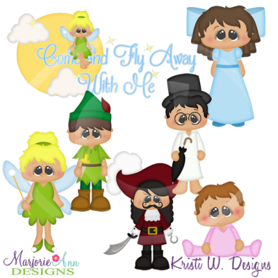 Come Fly Away With Me SVG Cutting Files Includes Clipart