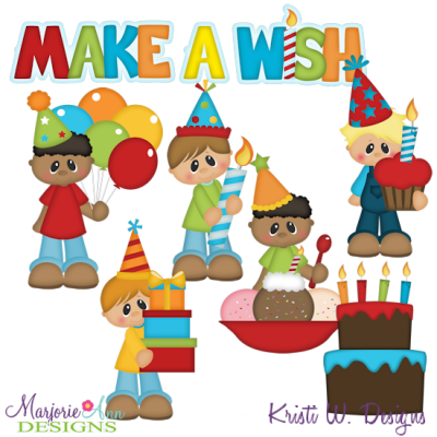 Birthday Boys SVG Cutting Files Includes Clipart