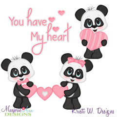 You Have My Heart SVG Cutting Files + Clipart