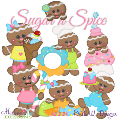 Sugar Shoppe SVG Cutting Files Includes Clipart