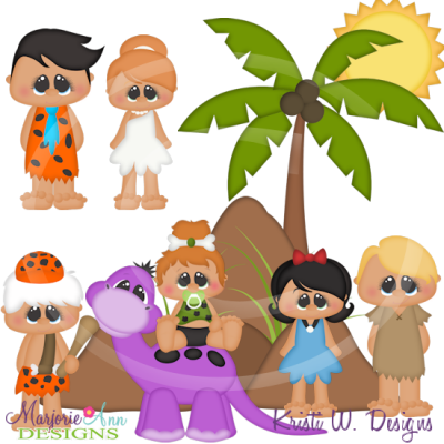 Stoneage Family SVG Cutting Files Includes Clipart