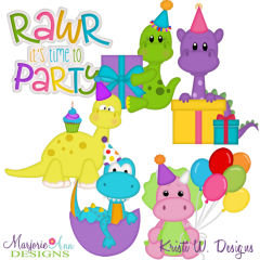 Dinomite Birthday SVG Cutting Files Includes Clipart