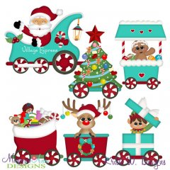 Winter Village~Town Train SVG Cutting Files + Clipart