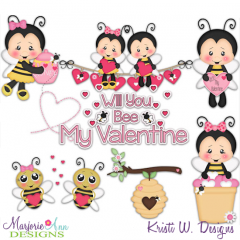 Will You Bee Mine SVG Cutting Files Includes Clipart