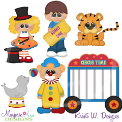 Circus Fun TWO Cutting Files-Includes Clipart